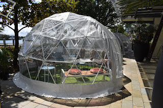 Barangaroo | Bungalow 8 and their Covid Bubble shelters