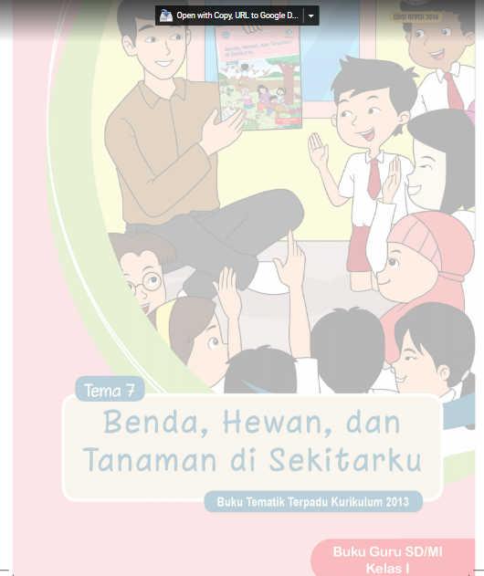 Buku Guru SD Kelas 1 Kurikulum 2013 Revisi 2016 Tema 7