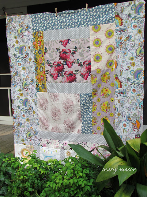 big block patchwork quilt top - and may the critics be damned ~