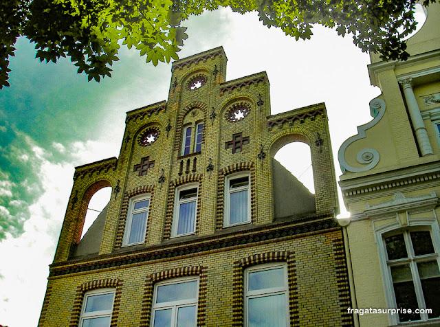 fachada típica de Lübeck, Alemanha