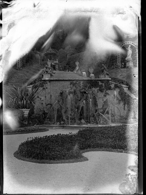 Neptunbrunnen auf Schloss Linderhof - um 1930