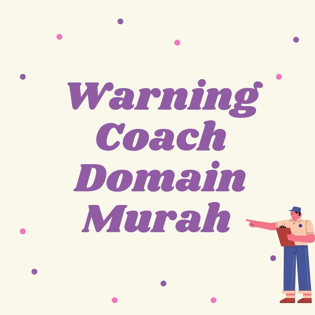 Warning coach domain murah