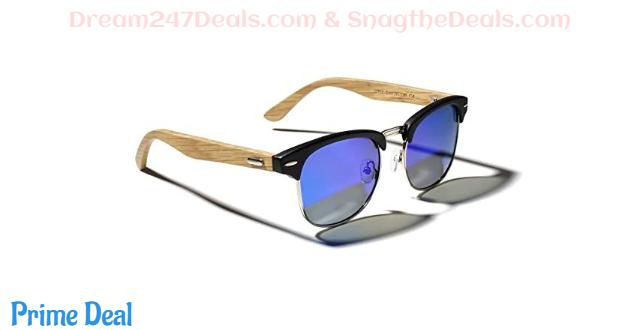 50%OFF TIJN Semi Rimless Sunglasses for Women Men Polarized Classic Half Frame Sun Glasses