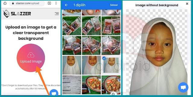 Cara hapus latar foto menggunakan hp