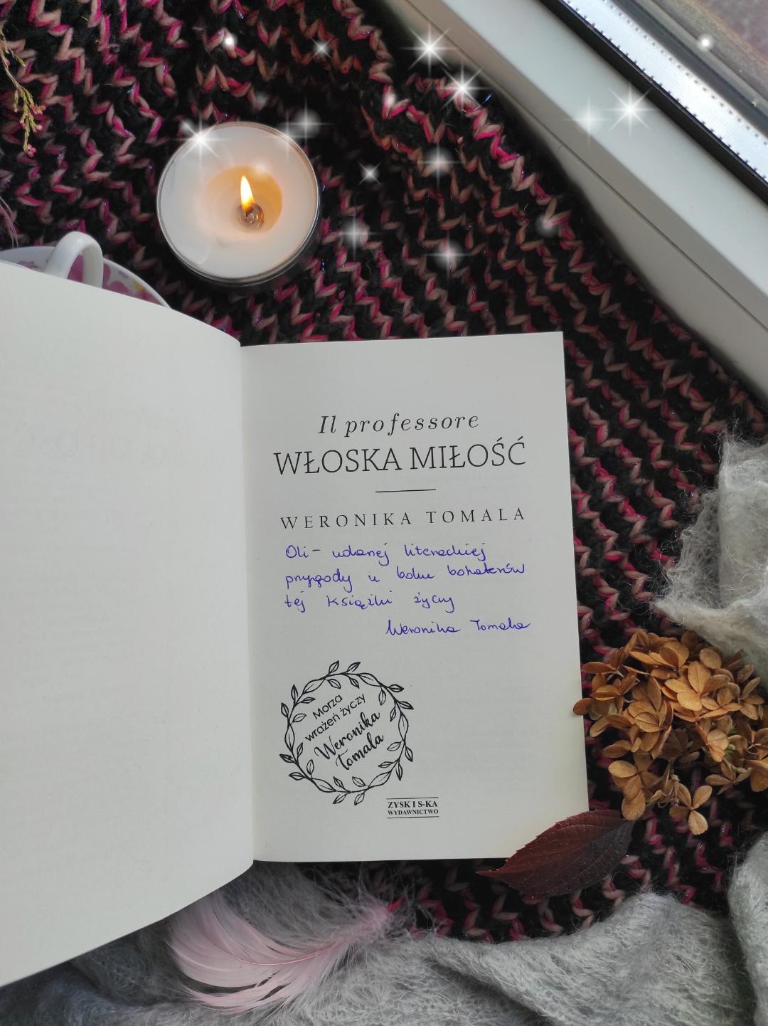 """""""Il professore. Włoska miłość"""" Weronika Tomala - Patronat Medialny"""
