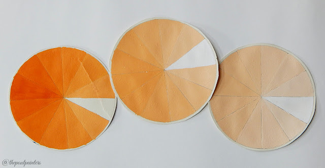 Lighter Value Wheels Yellow-Orange Colour Theory Betty Edwards