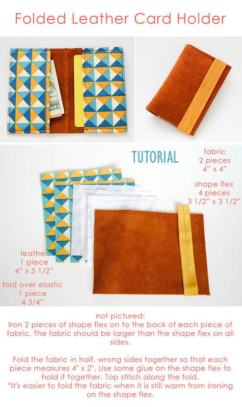 Leather card holder - 4 Tutorials
