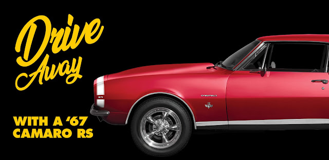 To celebrate Labor Day, Advance Auto Parts is giving you a chance to drive away in this completely restored 1967 Chevy Camaro!