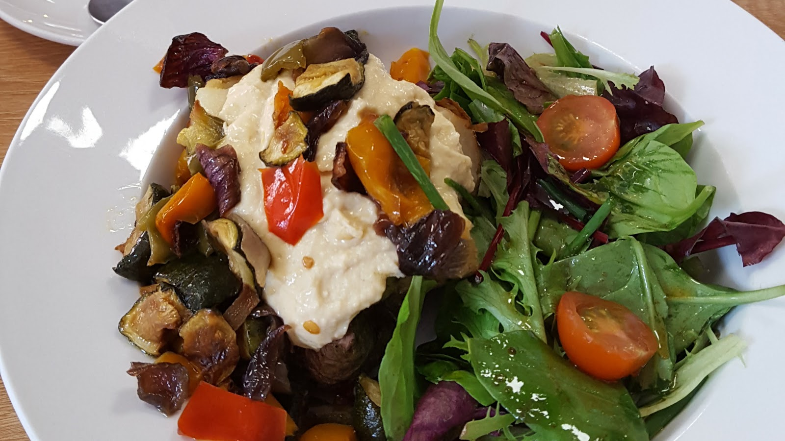 World Peace Cafe Leicester Rainbow Jacket Potato Vegan and Gluten Free
