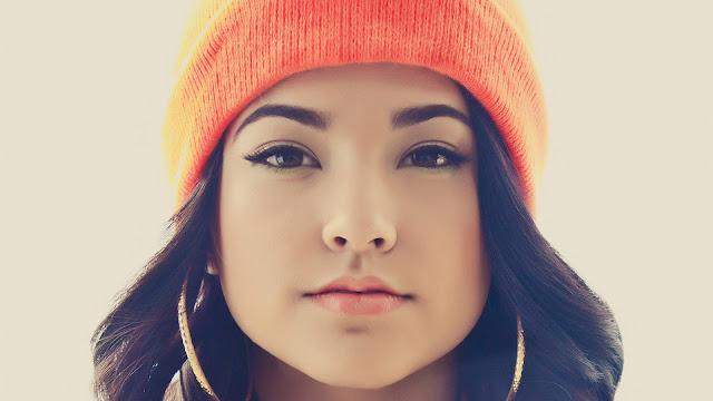 Becky G face closeup wallpaper