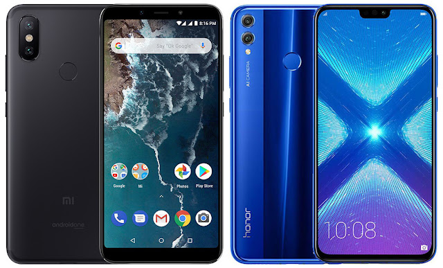 Xiaomi Mi A2 64G vs Honor 8X 64 GB