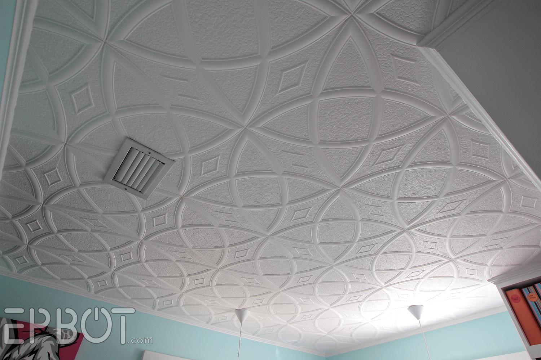 Epbot Diy Faux Tin Tile Ceiling