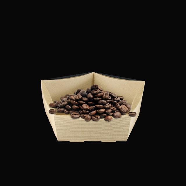 kartonowe opakowanie na kawę