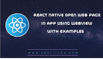 React Native Open Web Page in App Using WebView