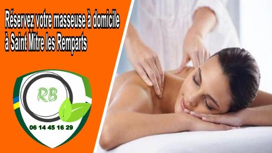Réservez votre masseuse à domicile à Saint Mitre les Remparts;