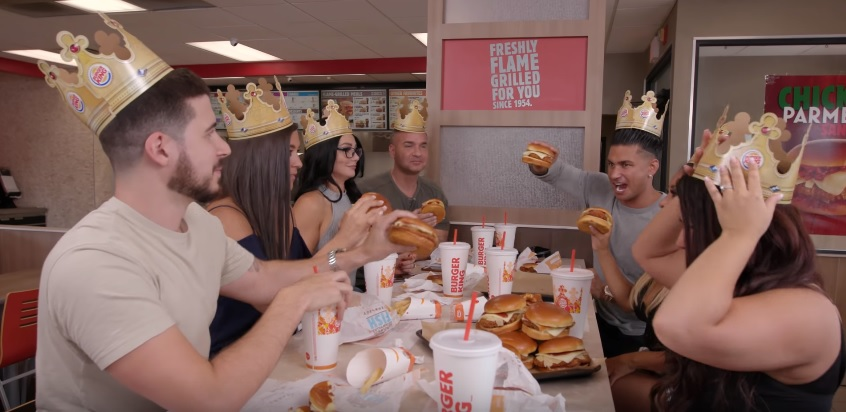 So the cast of jersey shore reunited for a burger king commercial so the cast of jersey shore reunited for a burger king commercial mozeypictures Gallery