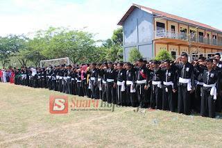 Peringati HUT Kemerdekaan RI ke 72, PSHT Ranting Sugihwaras Ikut Upacara
