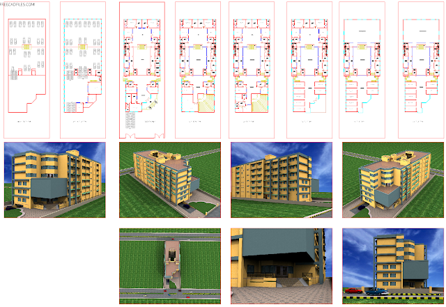 Office building, 8 stories DWG