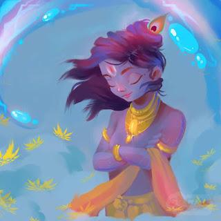 Lord Krishna Images Painting, Lord Krishna Painting, Lord Krishna childhood Painting,