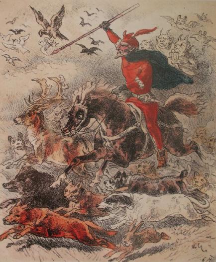Hellequin conduce la masnada selvaggia.