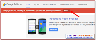 Google Adsense Address Verification PIN