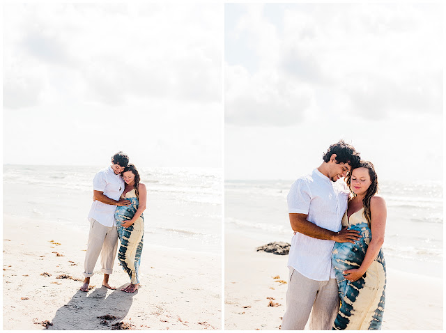 Juli & Sammy's Maternity Session in Port Aransas, TX with Rachel Driskell Photography