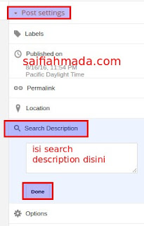 search description