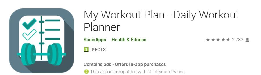 Fitness App Review My Workout Plan By Sosis Apps Dammit Karen