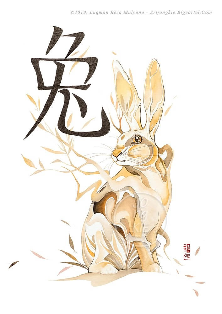 04-The-Rabbit-jongkie-Year-of-the-Pig-Chinese-New-Year-Zodiac-Drawings
