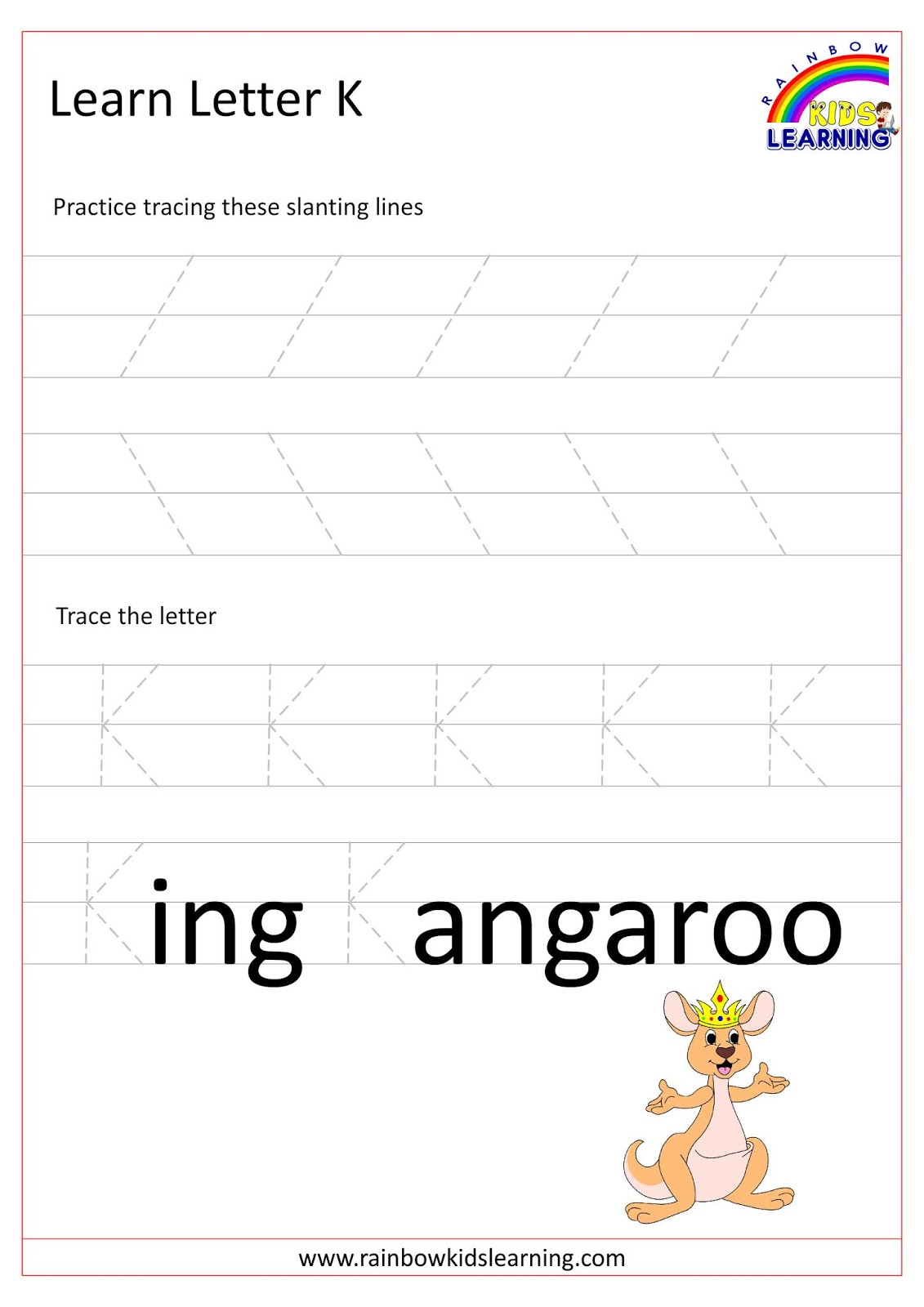 Tracing Worksheets A To Z