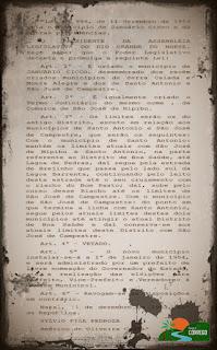 NOSSA HISTÓRIA - Decreto de Criação e a Instalação
