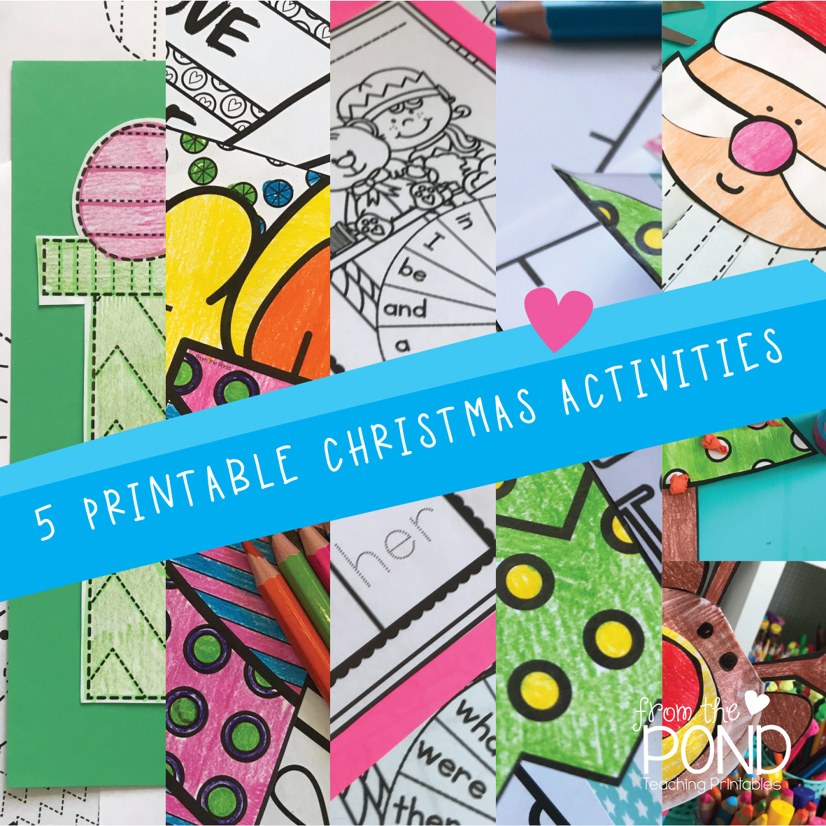 5 Fun and Easy Prep Printable Activities for Christmas | From the Pond