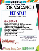 Job Vacancy at Kinarya Training Centre Sidoarjo Agustus 2020