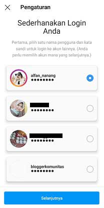 cara login multi akun instagram