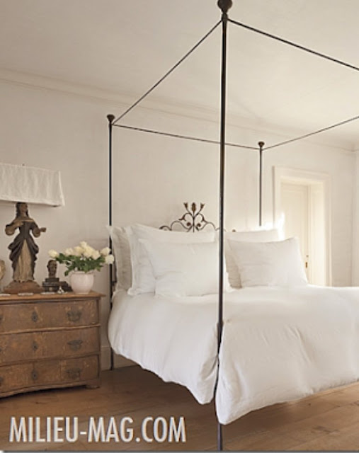 Romantic French Country white bedroom by Pamela Pierce - found on Hello Lovely Studio