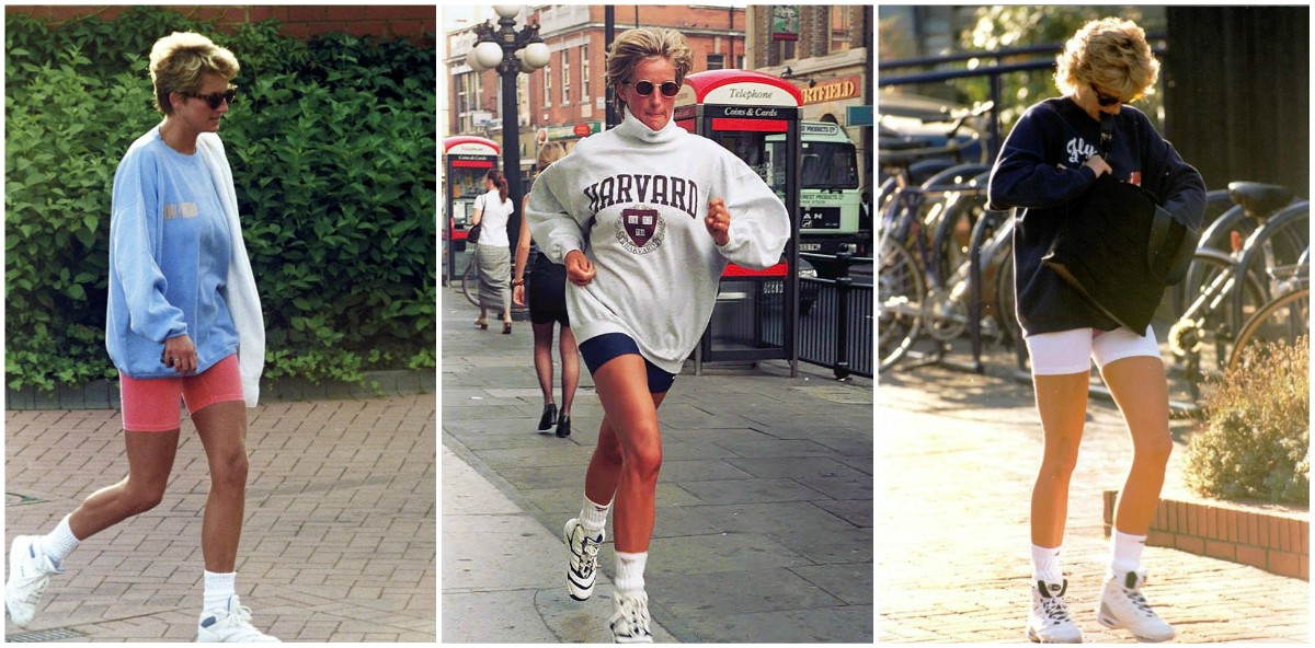 Photographs of Princess Diana Wearing Bike Shorts in the Mid-1990s
