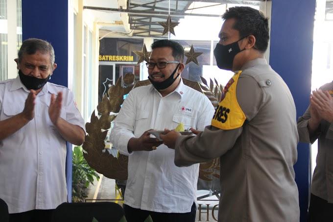 Hari Bhayangkara Ke -74  Momentum Serginitas PMI Dan Polres  Dalam Kemanusian (Protokol Kesehatan  ).