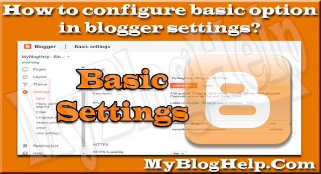 basic option in blogger