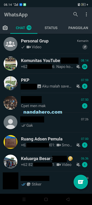 cara whatsapp dark mode ios