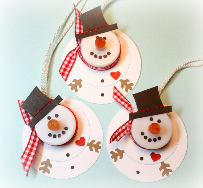 Karen's Creations: Snowman tea light ornaments