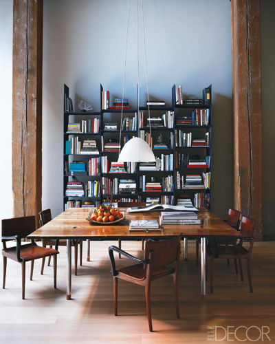 Contemporary Dining Room By Steven Volpe Design By: A Round-Up Of Industrial Bookcases