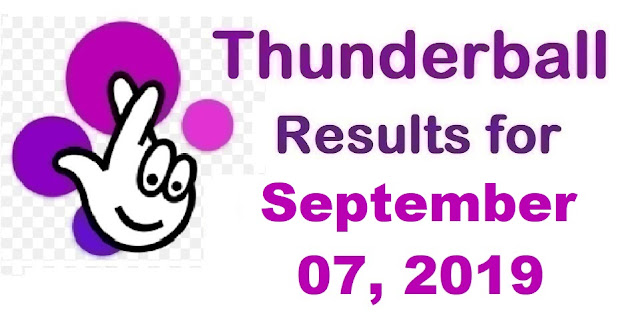 Thunderball results for Saturday, September 07, 2019