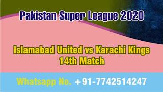 Who will win Today 14th match ISL vs KAR PSL 2020