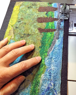 52 Ways to Look at the River, panel 7 in progress