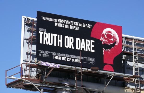 Truth or Dare skull billboard