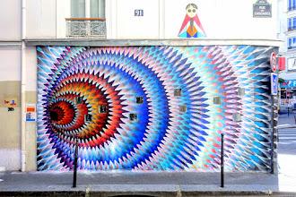 Sunday Street Art : Hoxxoh pour la Galerue Cascades - rue des Cascades - Paris 20