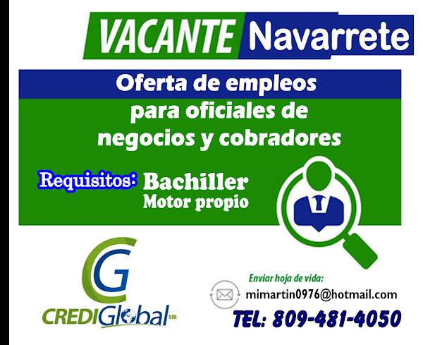 Oficiales de negocios  y cobradores en Navarrete