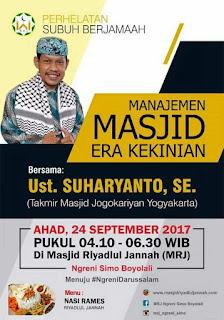 Manajemen Masjid Era Kekinian