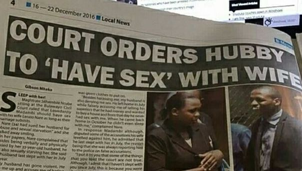 LMAO! Judge Orders Husband To Have S*x With Wife