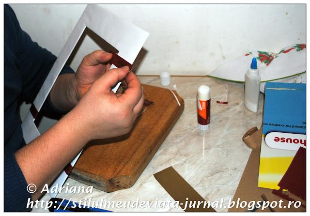 rama din carton pentru tablou